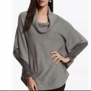White House Black Market Cowl Knit Poncho Sweater